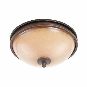 Golden Lighting 1051-FM SBZ Hidalgo Flush Mount, Sovereign Bronze Finish (Living Sovereign)