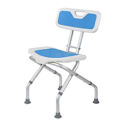 Foldable Shower Stool,Adjustable Height Lightweight Aluminum Alloy Frame Shower/Bath Seat Bench (Size : with Backrest)