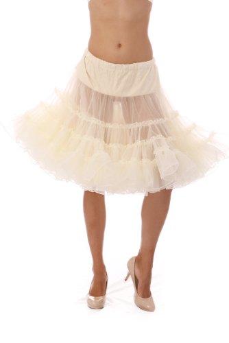 Malco Modes Dance Petticoat Pettiskirt Underskirt Tutu Crinoline (Ivory, Large)