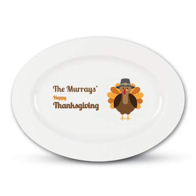 Personalized Family Name Thanksgiving Platter