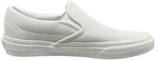 Vans U Classic Slip-on Pebble Snake - Zapatillas de estar por casa Unisex adulto blanco - White (Vintage - True White/Blanc)