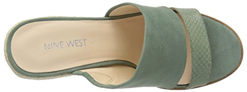 Nine West Women's Armanna Suede Wedge Sandal Green OukXd