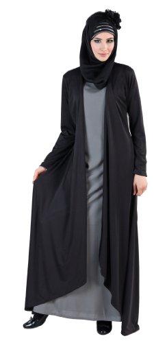 Classy Semi Robe, Black, X-Large
