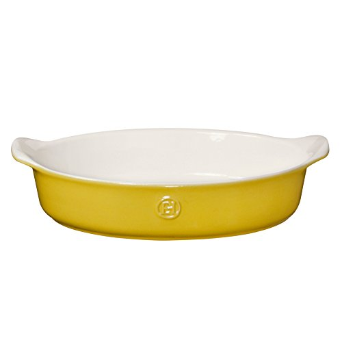 Yellow Oval Baking Dish - Emile Henry Made In France HR Modern Classics Oval Baker, 14.2 x 9.4