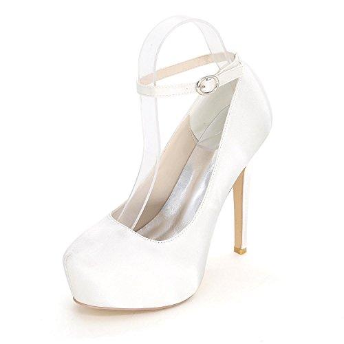 L@YC Damen Sandalen / High Heels / Sommer / Herbst Satin Hochzeit / Party & Abend Multi-Color Code White