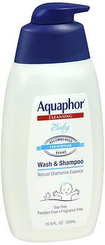 Aquaphor Baby Wash & Shampoo Fragrance Free - 16.9 oz, Pack of 5 by Aquaphor