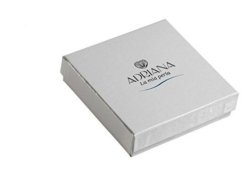 Adriana la Mia Perla-Collier Femme-Premium naturel Argent 925rhodié solitaire oxyde de zirconium-Perle d'eau douce-Blanc-45cm-PR7-41