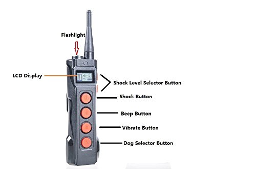 Aetertek AT-919C Transmitter Waterproof 1000M Remote Range Shock Vibration Pet Dog Training remote replacement