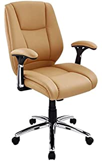 Miraculous Amazon Com Rialto Bonded Leather White Chair Rust Colored Alphanode Cool Chair Designs And Ideas Alphanodeonline