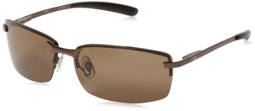 Arsenal Ace Polarized Rectangular Sunglasses,Shiny Copper,62 - Sunglasses Polarized Weight Lightest