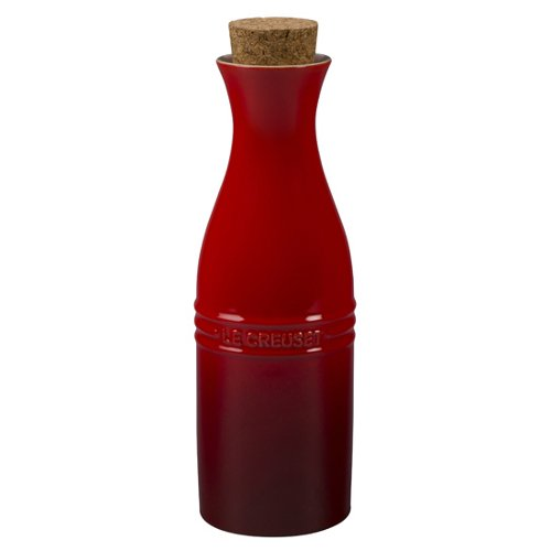 Le Creuset of America Stoneware Wine Carafe with Cork, 750ml, Cerise (Cherry Red) (Wine Red 750ml)