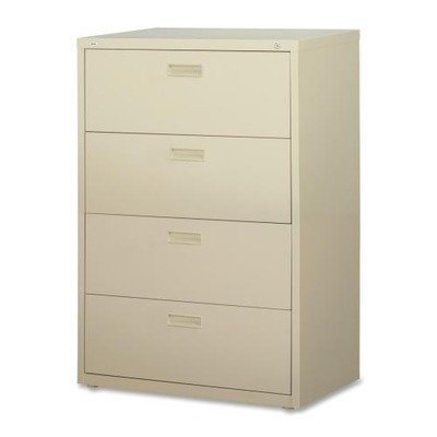 Lorell 4-Drawer Lateral File, 30 by 18-5/8 by 52-1/2-Inch, Putty (Drawer File Guides)