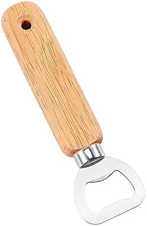 Tendlife Abrelatas, sacacorchos, abrebotellas montado en la pared de madera de camarero creativo de madera