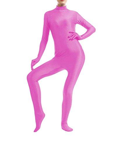 [WOLF UNITARD Lycra Spandex Bodysuit Dancewear Large Pink] (Pink Spandex Bodysuit)
