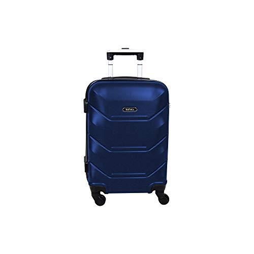 Mala para Viagem, ABS, Pequena, Siena, Azul Escuro, Batiki