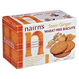 Nairn's Stem Ginger Oat Biscuit Cookie 201 gm (Pack of 12)