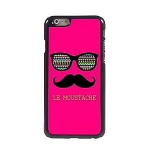 JAJAY Le Moustache Design Aluminum Hard Case for iPhone 6 Plus