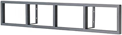 IKEA LERBERG CD/DVD estantería de pared gris oscuro