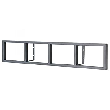 Ikea Lerberg CD/DVD Wall Shelf Dark Grey