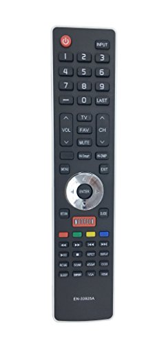 econtrolly New Replaced Remote EN-33925A EN33925A SUB EN-33922A for Hisense TV LHD32K366WUS LTDN40K366NWUS LTDN40K366WUS LTDN50K366GWUS LTDN50K610GW 55K610GW 50K610GW 46K360M
