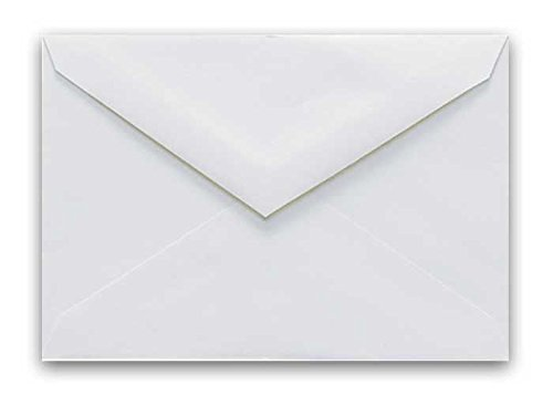 Envelopes Outer - Cougar White 5-1/2-x-7-3/4 Outer/gummed Envelopes 25-pk - PaperPapers 5X7 Invitation, Card and DIY Greeting Envelopes