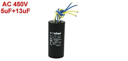DealMux CBB60A-1 5UF + 13Uf 450VAC 4 Wire película del ...