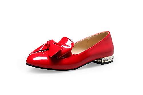 Donna AdeeSu con SDC05586 Rosso Sandali Red 35 Zeppa xrxpwn