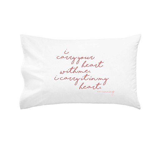 OH, SUSANNAH I Carry Your Heart With Me. I Carry It In My Heart Pillowcase - PINK - 1 Queen Size Pillowcase