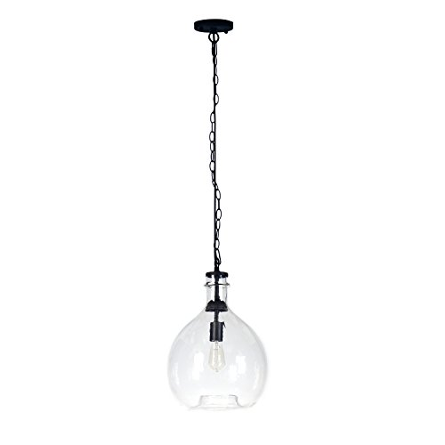 Casamotion Wavy Vintage Industrial Hand Blown Glass Pendant Light 1 Hanging Light 13