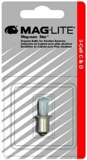 Maglite Mag-Num Star Xenon C-Cell or D-Cell Flashlight Replacement Bulb Flavor: For 5 D-Cell ()