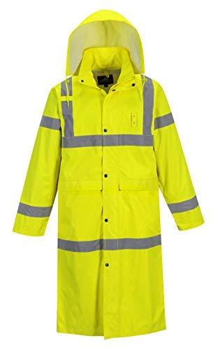 Portwest Hi-Vis Classic Raincoat 48 Yellow L R by Portwest