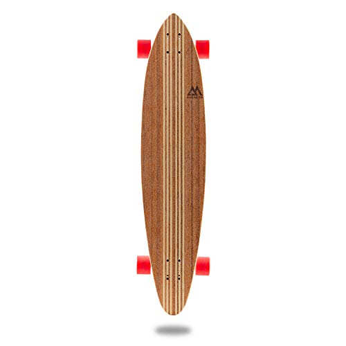 Hana Longboard Collection | 42 inch Longboard Skateboards | Bamboo with Hard Maple Core | Cruising, Carving, Dancing, Freestyle (Pintail) by Magneto (Image #5)
