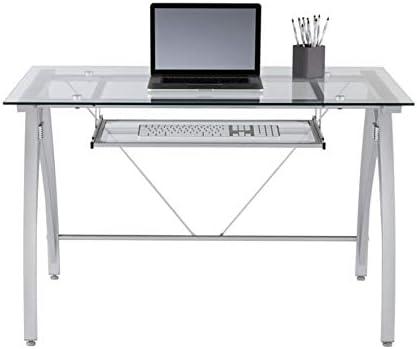 Realspace Vista 48″W Glass Computer Desk
