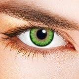 lentilles de couleur / color lenses verte- sans correction
