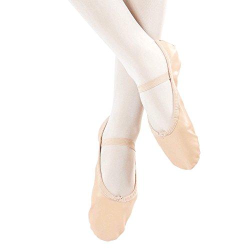 Pantofola Danza Danza Classica Danzcue Adulto In Pelle Suola Rosa