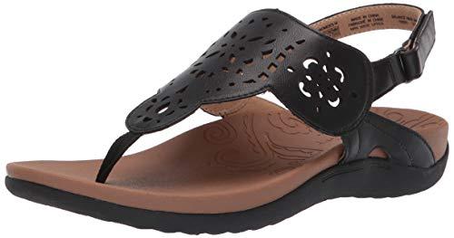 (Rockport Women Ridge Circle Sling Slide Sandal, Black, 10 M US)