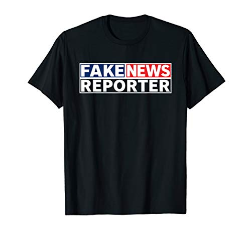 FAKE NEWS REPORTER Halloween Costume Shirt -