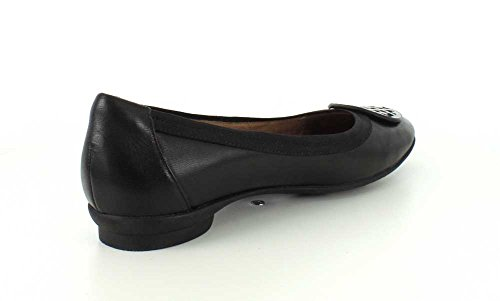 Clarks Womens Candra Rodna Svart Läder Slip-on - 9,5 Xw
