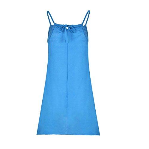 2aa55983e901da ... Sommer Strandkleider Blau Minikleid Strand Sommerkleider Ärmelloses  Frauen Kleid Jaminy Party S-5xl Kurzes Damen ...