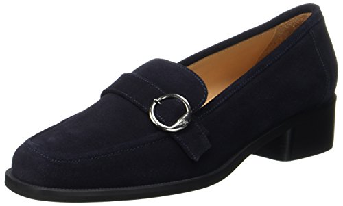 Marc O'Polo Women's Mid Heel 70714142201303 Loafers Blau (Navy) hxCob5brnG