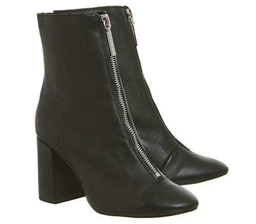 Black With Zip Branding Sorts All Front Office Soft Boots Leather zwaY8qtzxA