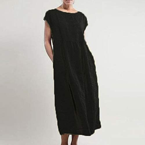 ReooLy Womens Striped Dresses,Long Sleeve Casual Dress,Boho Dress Maxi Party Dresses Women Round Neck Vestido Dress Skirt