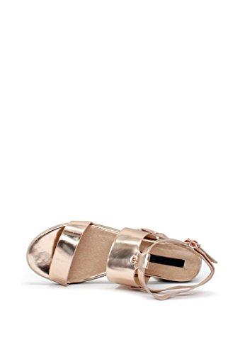 Ankle Women's Rag Strap London Sandals Rose Gold aqIwcTBf