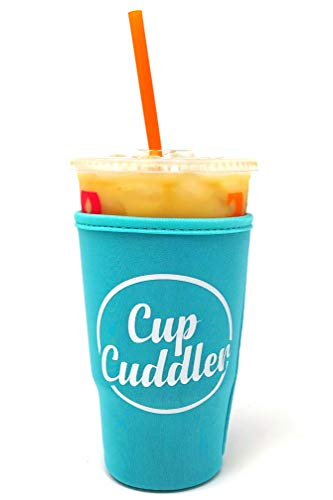 Mcdonalds Cup - CupCuddler Iced Coffee Insulated Sleeve I Reusable Neoprene Beverage Insulator Keeps Ice Drinks Cold I Java Coaster I for Dunkin Donuts Starbucks McDonalds and More (Blue, Large)