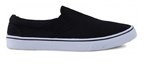 Footwear Sensation - Mocasines de sintético para hombre negro