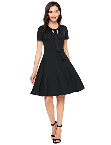 40s black tie dress - 1