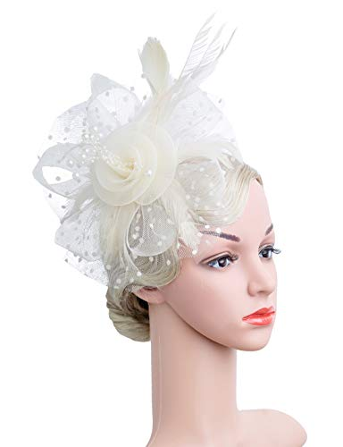 Cizoe Flower Cocktail Tea Party Headwear Feather Fascinators