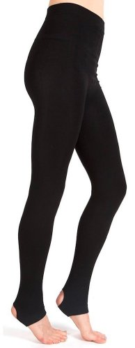 Plush Stirrup Fleece Lined Tights (Large, Black) (Fore Plush)