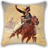 Beautifulseason Oil Painting William Robinson Leigh - The Roping Pillow Shams 20 X 20 Inches / 50 By 50 Cm Best Choice For Husband,coffee House,couples,christmas,kitchen With 2 Sides (Cowboys Jersey Sham)