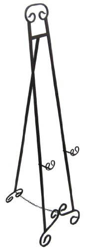 Private Label Large Wrought Iron Art Stand Display Easel Metal 70 Inch